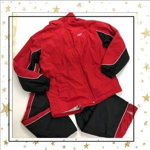 Reebok Mens Size Large Black&Red Tracksuit